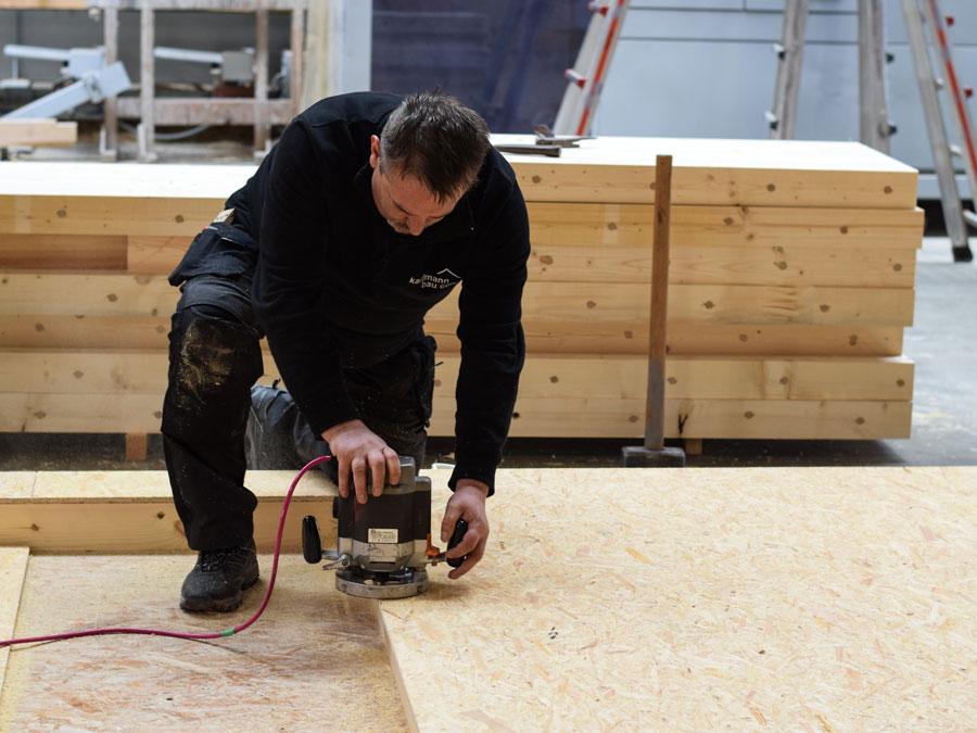Kaufmann: Bauen mit Dübelholz