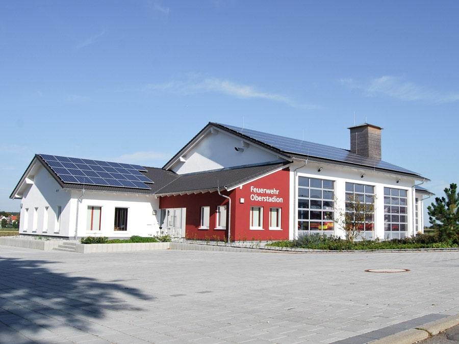 Gewerbebau von Kaufmann: Feuerwehrstation in Oberstadion