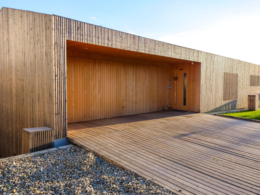Kaufmann Holzhaus: energieeffizientes Haus aus Dübelholz