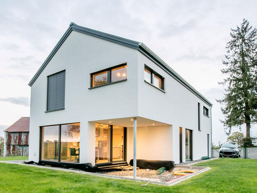 Individuelle Architektur: Einfamilienhaus maßgeschneidert geplant mit Kaufmann